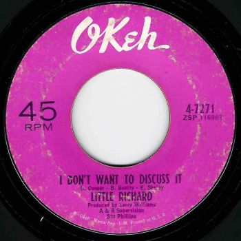 LITTLE RICHARD - I DON'T WANT TO DISCUSS IT