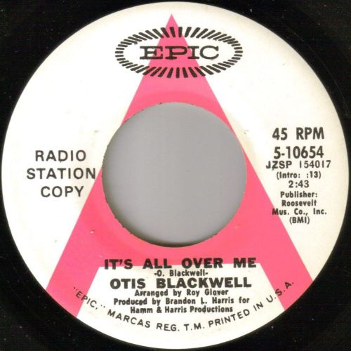 OTIS BLACKWELL - IT'S ALL OVER YOU