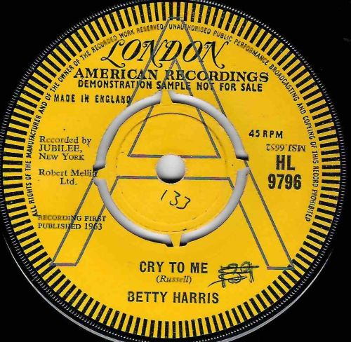 BETTY HARRIS - CRY TO ME