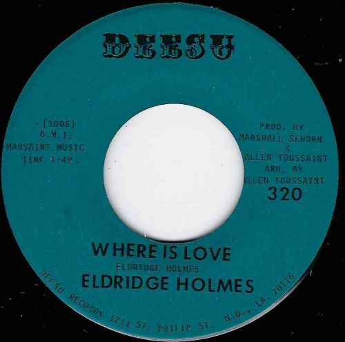 ELDRIDGE HOLMES - WHERE IS LOVE