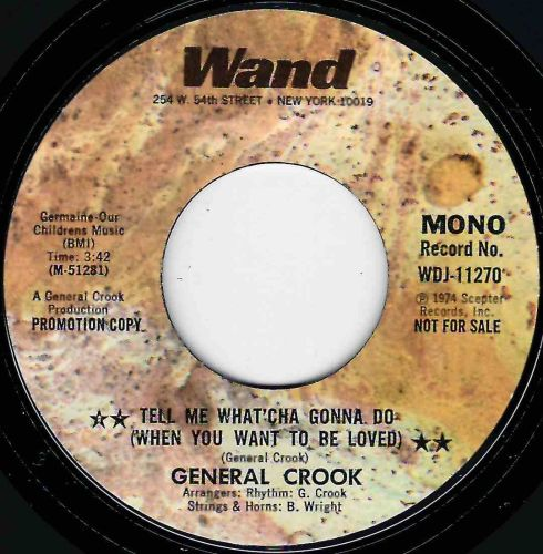 GENERAL CROOK - TELL ME WHAT'CHA GONNA DO