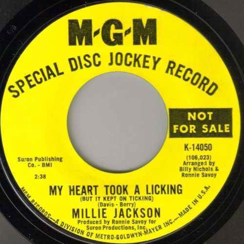 MILLIE JACKSON - MY HEART TOOK A LICKING