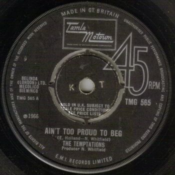 TEMPTATIONS - AIN'T TOO PROUD TO BEG
