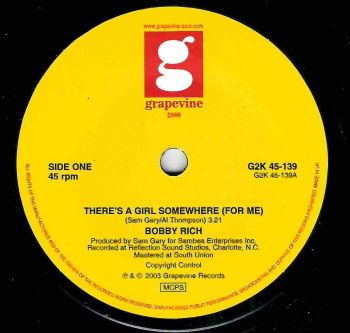 BOBBY RICH - THERE'S A GIRL SOMEWHERE (FOR ME)