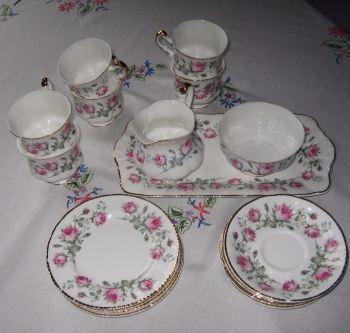 vintage china pink