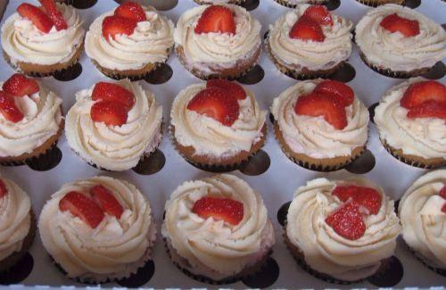 cc Strawberry cupcakes