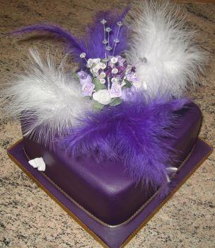 W Purple feather