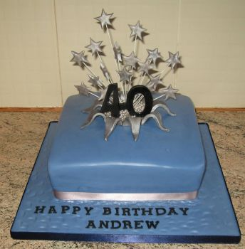 40th star birthday cake