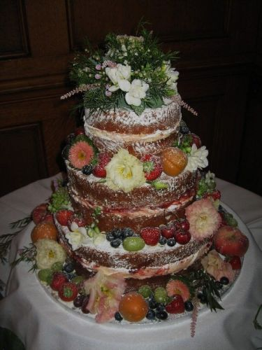 Naked cake 3 tier