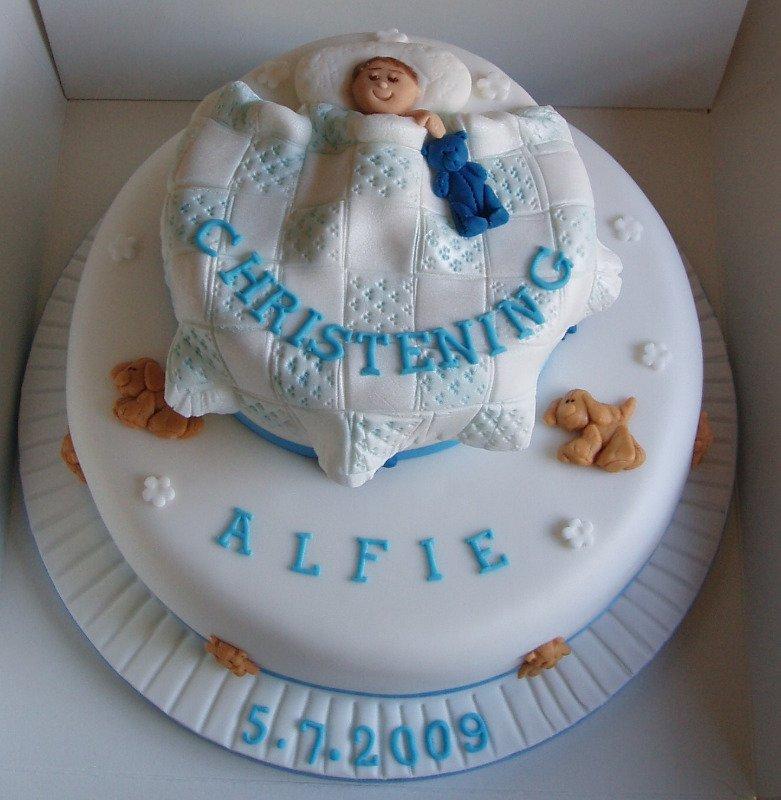 alfie christening cake
