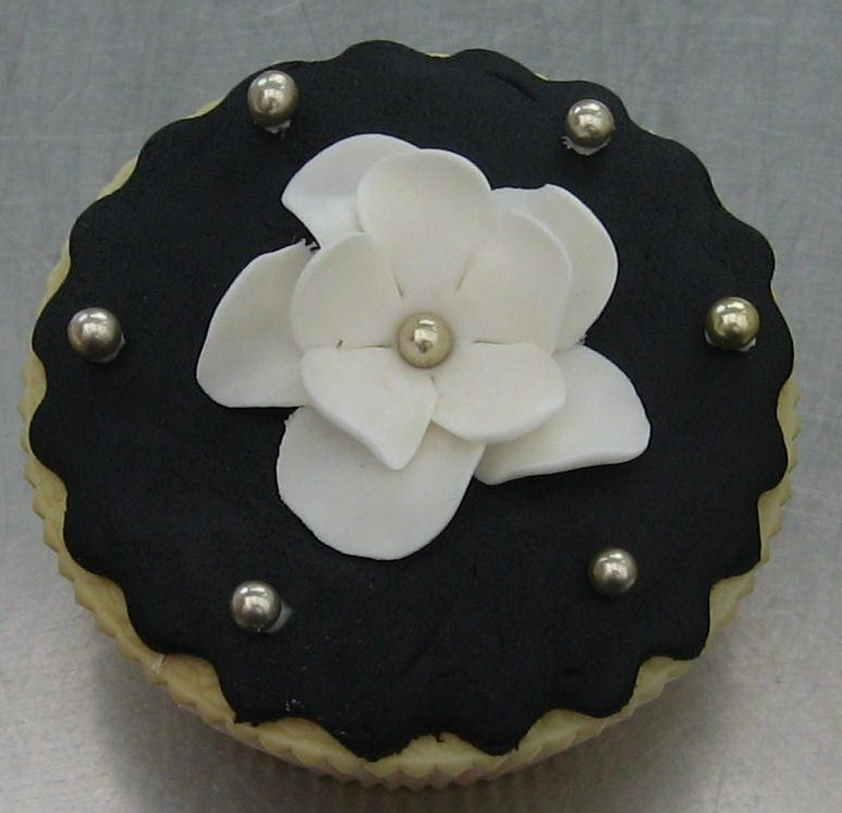 cc black and white flower
