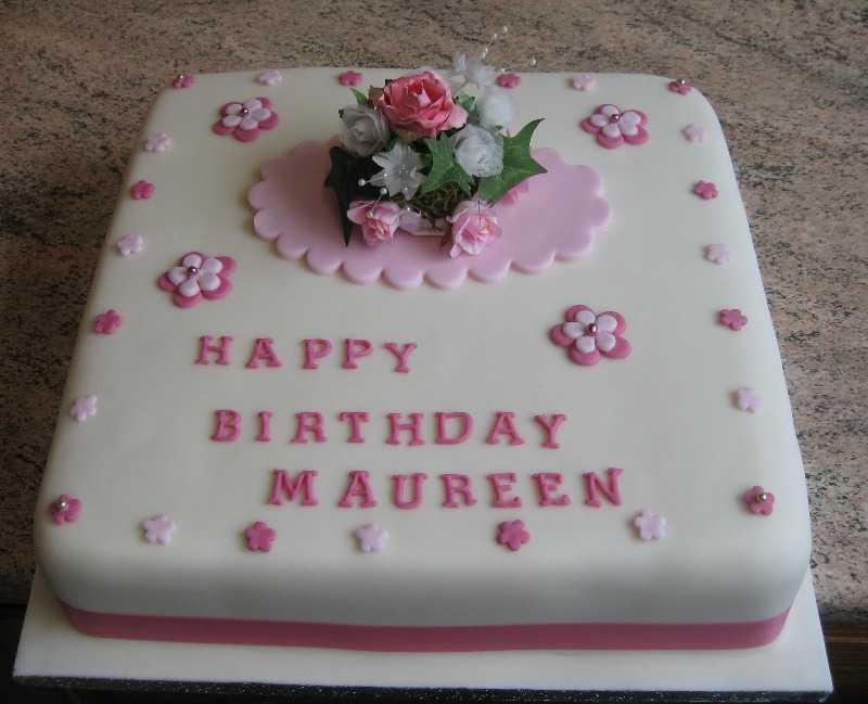 W flower cake