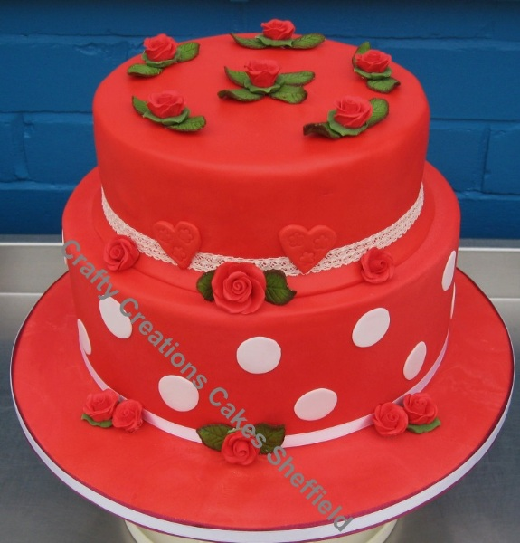 2 tier romance red