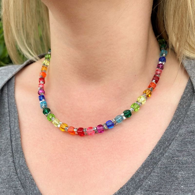 Rainbow Sparkle Necklace Image
