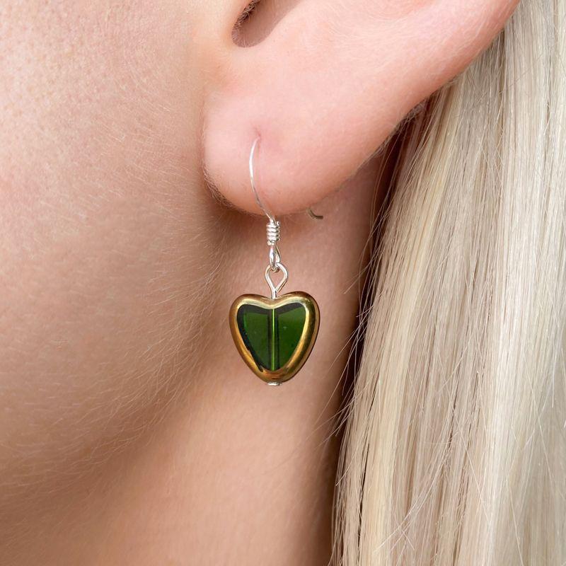 Gold Edged Heart Earring