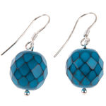 Teal Serpentine Earrings