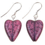 EH1249 Plum Heartbeat Earrings