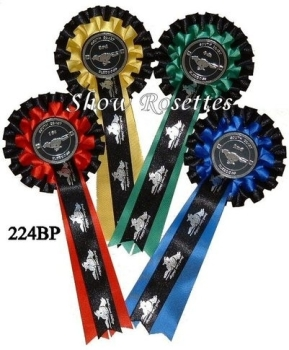 2 Tier rosettes, printed tails