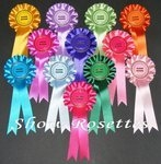 12 x Clear Round Rosettes 1 Tier