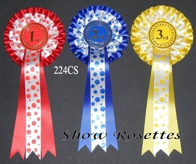 1 Placement Rosettes Spotty 2 Tier