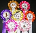 10 x Birthday Rosette Party 1 Tier