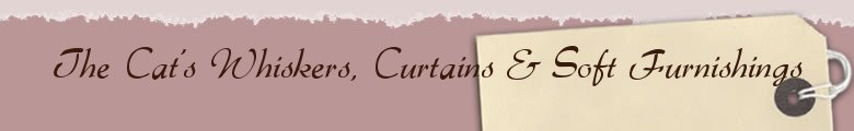 The Cat's Whiskers, Curtains & Soft Furnishings, site logo.