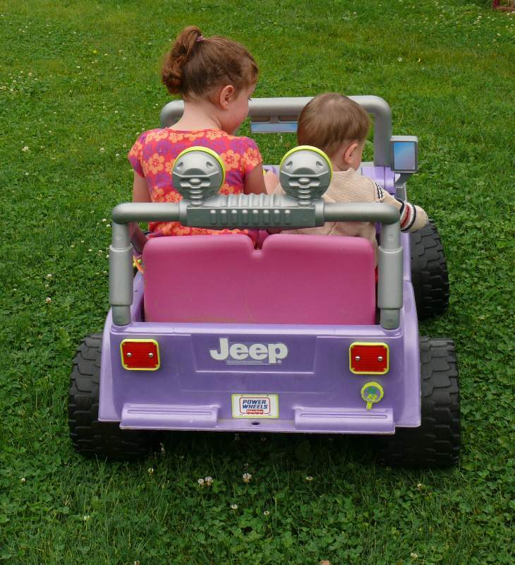 Amelia and Finn Jeep