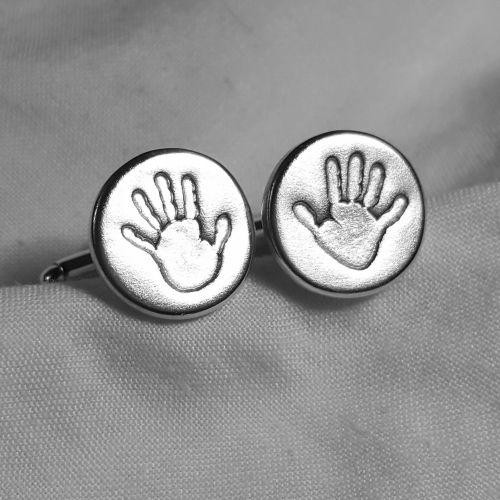Handprint cufflinks