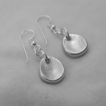 Fingerprint drop earrings