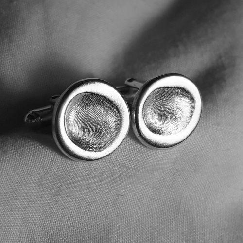 Fingerprint cufflinks