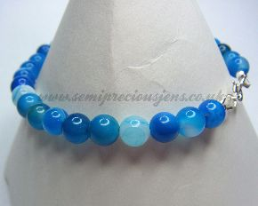BSA-B Blue Striped Agate Bracelet