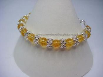 Citrine & Snowflake Bracelet