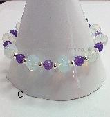 Opalite & Amethyst Stretch Bracelet