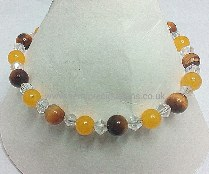 Tigers Eye, Honey Quartzite Bracelet