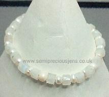 Rainbow Moonstone & Pearl Bracelet