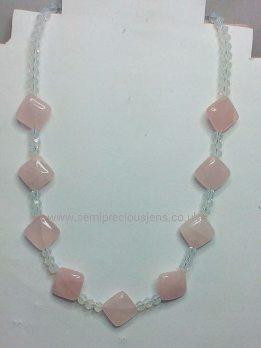 Rose Quartz & Opalite Necklace