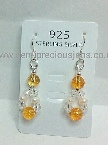Citrine & White Pearl Earrings