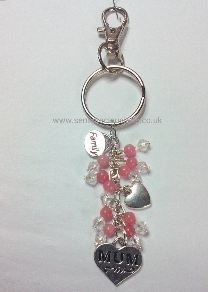 Carnation Pink Mother Keyring/Bag Charm