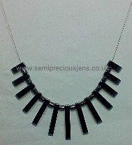 Hematite Graduated Drops Necklace