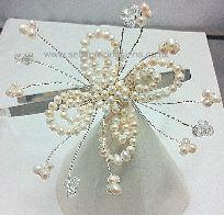 Freshwater Pearl Flower Tiara