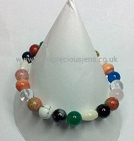 Multi Gemstone Chakra Style Stretch Bracelet