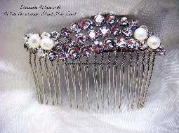 Diamante Wave & Pearl Hair Comb