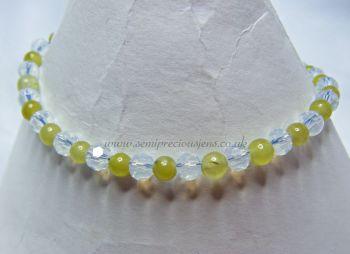 Peridot & Opalite Bracelet