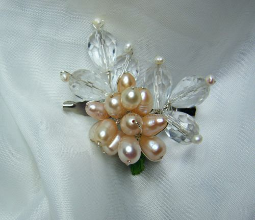 Pink Freshwater Pearl Brooch