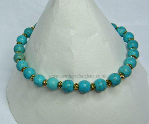 Turquoise Rondelle Bracelet