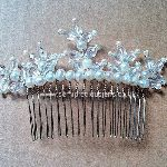 Freshwater Pearl & Crystal Glass Teardrop Hair Comb