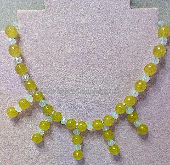 Peridot & Opalite Necklace