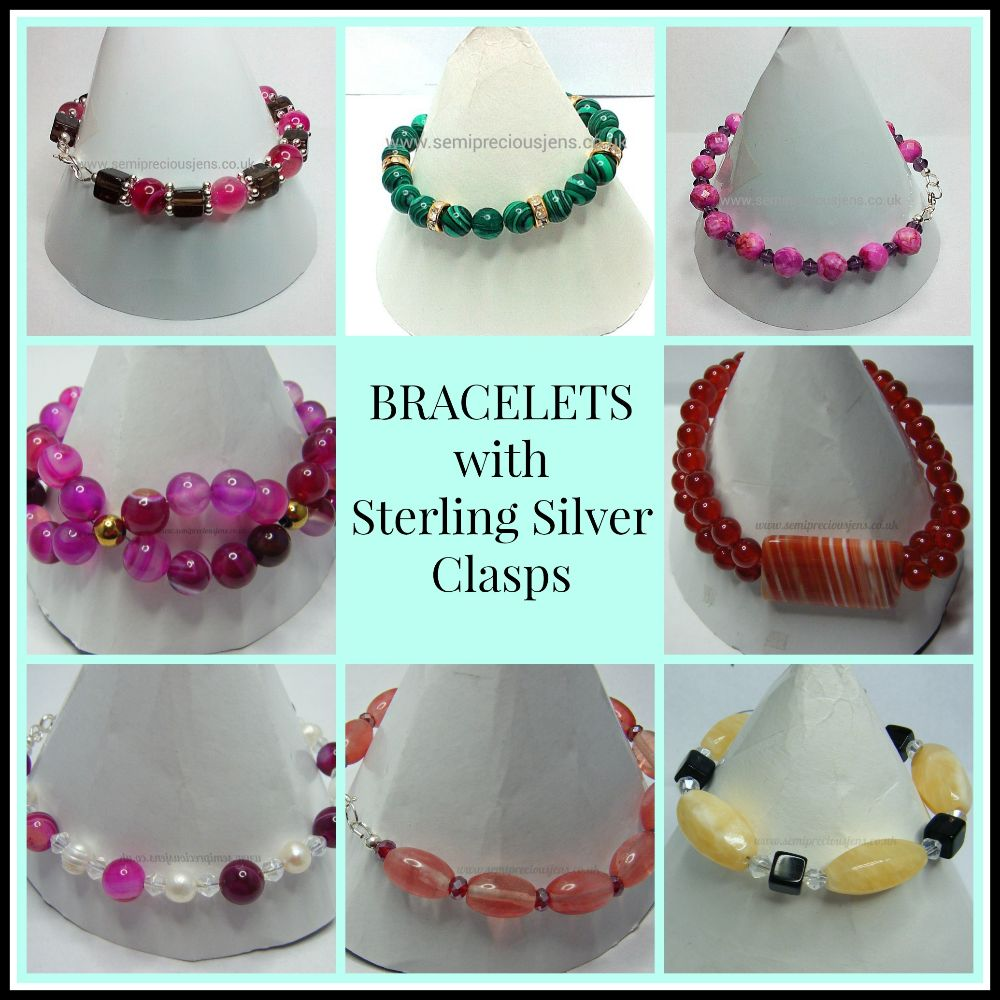 BRACELETS WITH 925 STERLING SILVER CLASPS