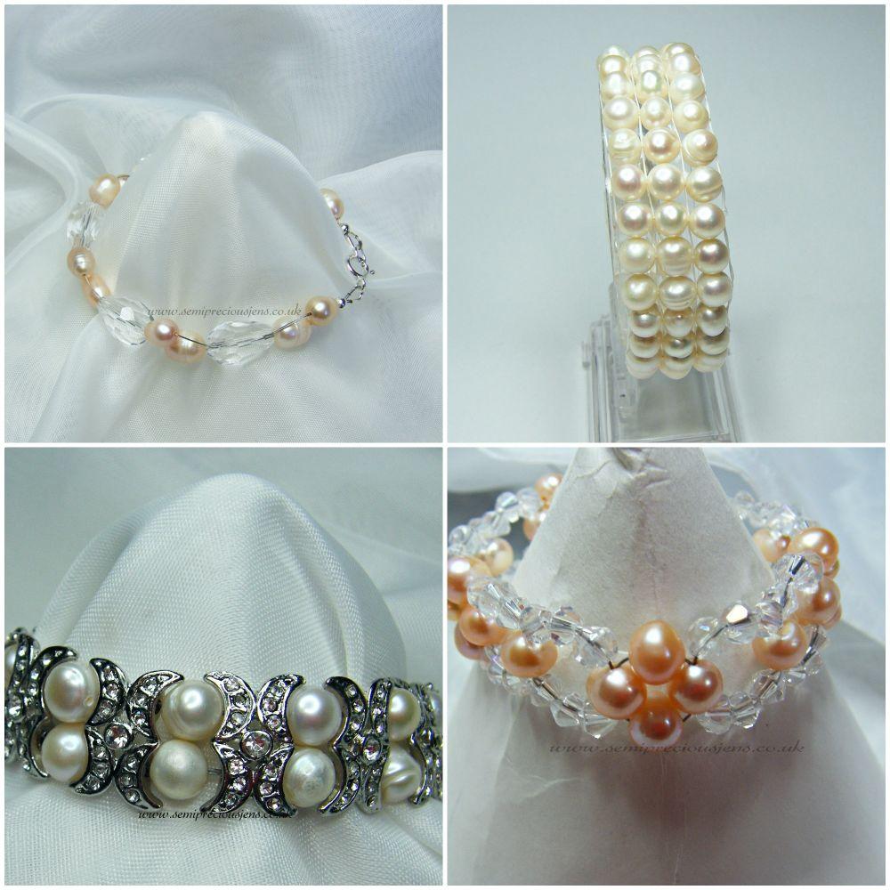 BRACELETS (sterling silver clasps)