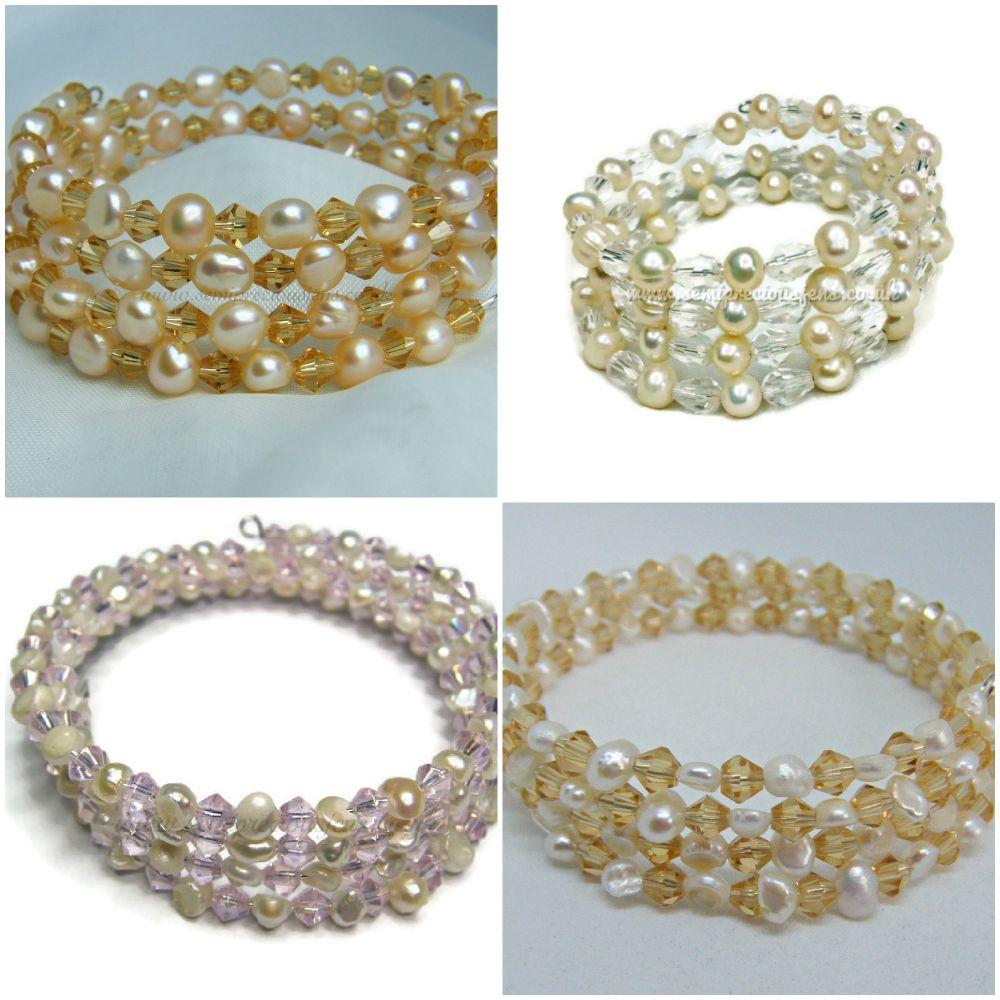 Memory Wire Wrap Around Bracelets